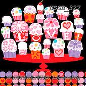 Sarah, VALENTINE, VALENTIN, paintings+++++Valcupcake-10-A,USSB327,#V# ,everyday