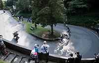 race moves early up the last big climb of the day: the Passo di Ganda<br /> <br /> 115th Il Lombardia 2021 (1.UWT)<br /> One day race from Como to Bergamo (ITA/239km)<br /> <br /> ©kramon