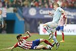 Atletico de Madrid's Saul Niguez (l) and Celta de Vigo's Daniel Wass during Spanish Kings Cup match. January 27,2016. (ALTERPHOTOS/Acero)