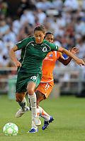 Niki Cross #19, Rosana..Sky Blue FC defeated Saint Louis Athletica 1-0 at Anheuser Busch Soccer Park, Fenton, Mo.