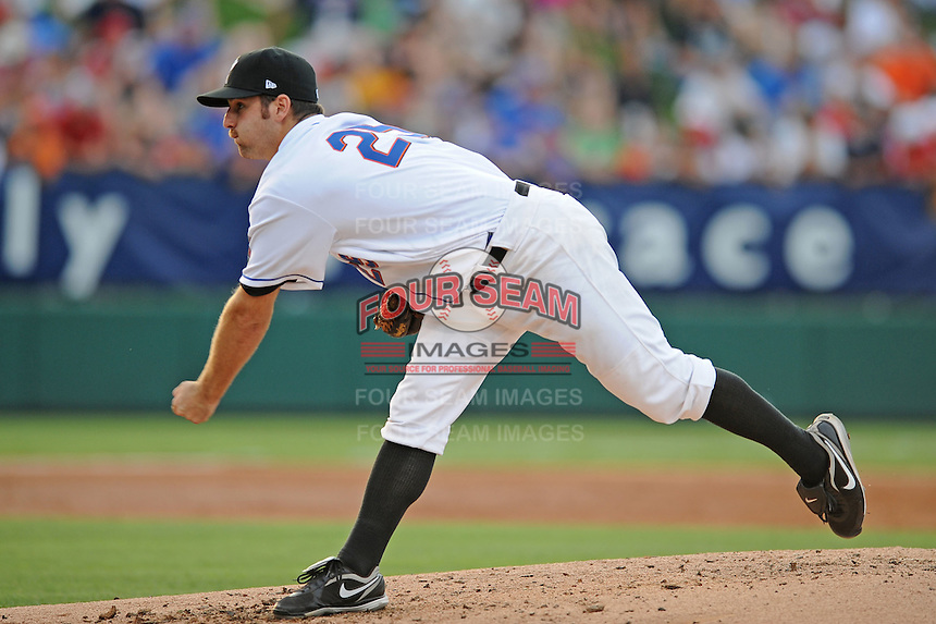 Savannah Sand Gnats Mark Cohoon South Atlantic League All Star Game at Fluor Field in Greenville, South Carolina June 22, 2010.   The game ended in a 5-5 tie.  Photo By Tony Farlow/Four Seam Images