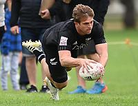 22nd May 2021; Grammar Tec, Auckland New Zealand; All Blacks Sevens versus Australia, Trans-Tasman Sevens;  Scott Curry scores a try.
