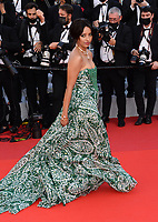 """CANNES, FRANCE. July 6, 2021: Kat Graham at the premiere of """"Annette"""" at the gala opening of the 74th Festival de Cannes.<br /> Picture: Paul Smith / Featureflash"""