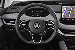 Car pictures of steering wheel view of a 2021 Skoda Enyaq-iV 80 5 Door SUV Steering Wheel