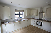 Pictured: Interior view of the kitchen in one of the affordable homes. Wednesday 26 April 2017<br /> Re: Waterstone Homes' most recent property development Howell's Reach, is in Derwen Fawr, Swansea and is made up of 13 luxury family homes, and also includes five affordable homes.