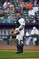 NW Arkansas Naturals catcher Micah Gibbs (7) during a game against the San Antonio Missions on May 31, 2015 at Arvest Ballpark in Springdale, Arkansas.  NW Arkansas defeated San Antonio 3-1.  (Mike Janes/Four Seam Images)