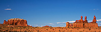 920950002 a panroamic view of a pronghorn antelope antilocarpa americana wanders among the hoodoo formations in the high desert of goblin valley state park utah united states