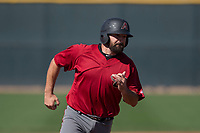 Arizona Diamondbacks third baseman Cody Decker (22) hustles to third base during a Spring Training game against Meiji University at Salt River Fields at Talking Stick on March 12, 2018 in Scottsdale, Arizona. (Zachary Lucy/Four Seam Images)