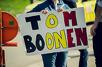 all along the 260km route many signs/fans were cheering for Tom Boonen in his very last Ronde<br /> <br /> 101th Ronde Van Vlaanderen 2017 (1.UWT)<br /> 1day race: Antwerp › Oudenaarde - BEL (260km)