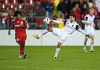 28 September 2010: Real Salt Lake midfielder Javier Morales #11 and  Toronto FC midfielder Julian de Guzman #6 in action during a CONCACAF Champions League game between Real Salt Lake and Toronto FC at BMO Field in Toronto..Final score was 1-1...