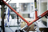 A legendary, iconic bike that Eddy used to ride in the 70'ies hanging at his home/factory in St-Brixius-Rode in 2010
