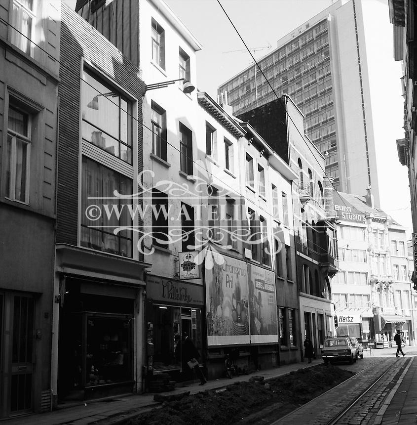 Lange Nieuwstraat in Antwerpen in 1971.