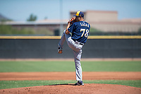 Milwaukee Brewers starting pitcher Max Lazar (78) delivers a pitch during an Instructional League game against the San Diego Padres at Peoria Sports Complex on September 21, 2018 in Peoria, Arizona. (Zachary Lucy/Four Seam Images)