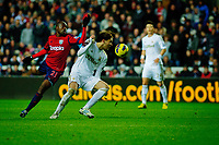 Sunday, 28 November 2012<br /> Pictured:(L-R) Youssouf Mulumbu, Michu.<br /> Re: Barclays Premier League, Swansea City FC v West Bromwich Albion at the Liberty Stadium, south Wales.