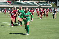 STANFORD, CA - SEPTEMBER 12: Katie Meyer and team after a game between Loyola Marymount University and Stanford University at Cagan Stadium on September 12, 2021 in Stanford, California.