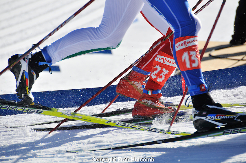 Flat out...cross country ski racers at the World Cup in Canmore Alberta