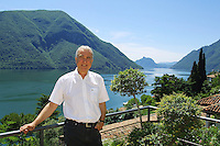 Italy. Province of Lombardia. Valsolda (Como). Kurt Felix at home. Star of the swiss german television (DRS). View on Lugano lake ( also called Ceresio lake). Kurt Felix died in St Gallen hospital on may 16 2012 from cancer at the age of 72. © 2005 Didier Ruef