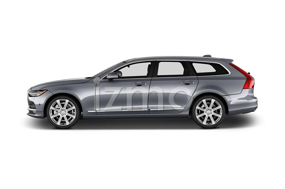Car driver side profile view of a 2017 Volvo V90 Inscription 5 Door Wagon