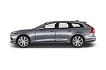 Car driver side profile view of a 2017 Volvo V90 Inscription 5 Door Wagon