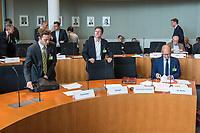 """Oeffentliches Fachgespraech des Finanzausschusses des Deutschen Bundestag am Mittwoch den 25. April 2018 zum Thema """"Steuerwettbewerb, Steuervermeidung, Paradise Papers"""".<br /> Im Bild die Sachverstaendigen vlnr.: <br /> Christoph Trautvetter, Netzwerk Steuergerechtigkeit WEED e. V.; Jan Strozyk, Norddeutscher Rundfunk; Dr. Achim Pross, OECD.<br /> 25.4.2018, Berlin<br /> Copyright: Christian-Ditsch.de<br /> [Inhaltsveraendernde Manipulation des Fotos nur nach ausdruecklicher Genehmigung des Fotografen. Vereinbarungen ueber Abtretung von Persoenlichkeitsrechten/Model Release der abgebildeten Person/Personen liegen nicht vor. NO MODEL RELEASE! Nur fuer Redaktionelle Zwecke. Don't publish without copyright Christian-Ditsch.de, Veroeffentlichung nur mit Fotografennennung, sowie gegen Honorar, MwSt. und Beleg. Konto: I N G - D i B a, IBAN DE58500105175400192269, BIC INGDDEFFXXX, Kontakt: post@christian-ditsch.de<br /> Bei der Bearbeitung der Dateiinformationen darf die Urheberkennzeichnung in den EXIF- und  IPTC-Daten nicht entfernt werden, diese sind in digitalen Medien nach §95c UrhG rechtlich geschuetzt. Der Urhebervermerk wird gemaess §13 UrhG verlangt.]"""
