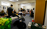 Burntisland Shipyard 0 Colville Park 7, 12/08/2017. The Recreation Ground, Scottish Cup First Preliminary Round. Burntisland players in the home dressing room. Photo by Paul Thompson.