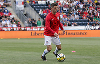 Chester, PA - Monday May 28, 2018: Christian Pulisic during an international friendly match between the men's national teams of the United States (USA) and Bolivia (BOL) at Talen Energy Stadium.
