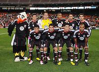 DC United starting eleven.  Toronto FC. defeated DC United 3-2 at RFK Stadium, October 23, 2010.