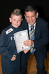 St Johnstone FC Academy Awards Night...06.04.15  Perth Concert Hall<br /> Chairman Steve Brown presents a certificate to Robbie Elder<br /> Picture by Graeme Hart.<br /> Copyright Perthshire Picture Agency<br /> Tel: 01738 623350  Mobile: 07990 594431