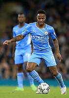 21st September 2021; Etihad Stadium,Manchester, England; EFL Cup Football Manchester City versus Wycombe Wanderers; Raheem Sterling of Manchester City runs with the ball