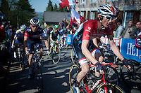 Fränk Schleck (LUX/Trek Factory Racing) up the infamous Mur de Huy (1300m/9.8%)<br /> <br /> 79th Flèche Wallonne 2015