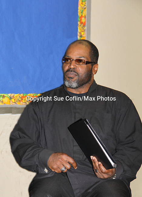"""Michael Davis - Evern Gillard-Randolph, playwright and founder of Grandparents Around the World, presents her new play """"To Do List"""" in a first play reading on December 7, 2013 at the Salvation Army Harlem Corps, New York, New York.  (Photo by Sue Coflin/Max Photos)"""
