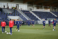 WIENER NEUSTADT, AUSTRIA - MARCH 25: USMNT players warmup before a game between Jamaica and USMNT at Stadion Wiener Neustadt on March 25, 2021 in Wiener Neustadt, Austria.
