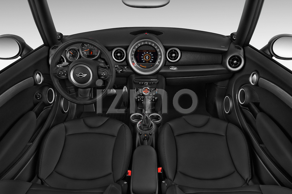 Stock photo of straight dashboard view of a 2015 MINI Mini Cooper S 2 Door Convertible Dashboard