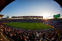 CARSON, CA - JUNE 19: Huge crowds again pack Dignity Health Sports Complex during a game between Seattle Sounders FC and Los Angeles Galaxy at Dignity Health Sports Park on June 19, 2021 in Carson, California.