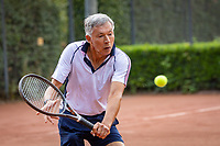Hilversum, The Netherlands,  August 18, 2020,  Tulip Tennis Center, NKS, National Senior Championships, Men's single 65+ , Rolf Thung (NED) <br /> Photo: www.tennisimages.com/Henk Koster