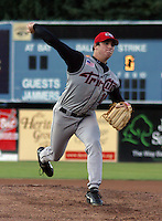 August 22, 2003:  Former first round draft pick, pitcher Derick Grigsby of the Tri-City Valley Cats, Short Season Class-A affiliate of the Houston Astros, during a NY-Penn League game at Russell Diethrick Park in Jamestown, NY.  Photo by:  Mike Janes/Four Seam Images