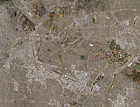 aerial photo map of Los Angeles, California, 2005.  For more recent aerial photo maps of Los Angeles, please contact Aerial Archives.
