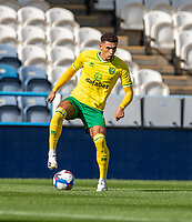12th September 2020 The John Smiths Stadium, Huddersfield, Yorkshire, England; English Championship Football, Huddersfield Town versus Norwich City;  Ben Godfrey of Norwich City on the ball