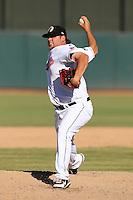 Phoenix Desert Dogs pitcher Cody Burns #49 during an Arizona Fall League game against the Surprise Saguaros at Phoenix Municipal Stadium on October 29, 2011 in Phoenix, Arizona.  Surprise defeated Surprise 11-0.  (Mike Janes/Four Seam Images)