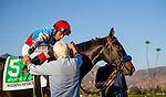 October 02, 2021: Bob Baffert gives John Velazquez a hug after Medina Spirit wins the Awesome Again Stakes at Santa Anita Park in Arcadia, California on October 02, 2021. Evers/Eclipse Sportswire/CSM