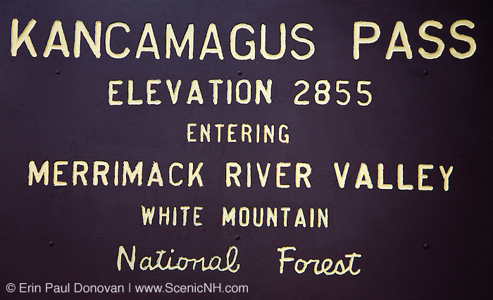 Kancamagus Pass, which is the highest point along the Kancamagus Scenic Byway in the White Mountains, New Hampshire USA