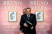 Silvio Berlusconi e Bruno Vespa<br /> Roma 04-12-2013 Tempio do Adriano. Presentazione del libro 'Sale, zucchero e caffè'<br /> Photo Samantha Zucchi Insidefoto