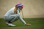 Klara Spilkova of Czech Republic studies her next move at the 11th hole during Round 3 of the World Ladies Championship 2016 on 12 March 2016 at Mission Hills Olazabal Golf Course in Dongguan, China. Photo by Victor Fraile / Power Sport Images