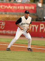 August 15, 2007:  Brett Pill of the Augusta GreenJackets during a game at Lake Olmstead Stadium in Augusta, GA.  Augusta is the South Atlantic League Low-A affiliate of the San Francisco Giants.  Photo By David Stoner/Four Seam Images