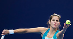 Julia Goerges of Germany serves during the singles Round Robin match of the WTA Elite Trophy Zhuhai 2017 against Kristina Mladenovic of France at Hengqin Tennis Center on November  03, 2017 in Zhuhai, China.  Photo by Yu Chun Christopher Wong / Power Sport Images