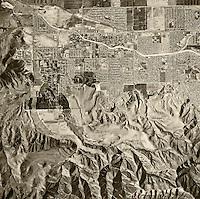 historical aerial photograph Simi Valley, Ventura County, California, 1967