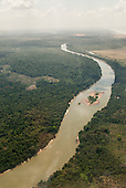 Maraba, Para State, Brazil. Aerial view Itacaiunas River, approaching the town from the south