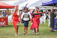 9th September 2021; Doncaster Racecourse, Doncaster, South Yorkshire, England;   St Leger Ladies Day; Ladies  enjoying the event at Doncaster Racecourse