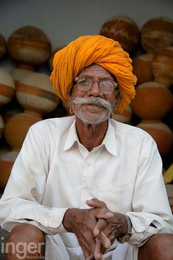 Indian Man, Sambhar, Rajasthan
