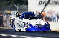 Aug. 21, 2011; Brainerd, MN, USA: NHRA funny car driver Melanie Troxel during the Lucas Oil Nationals at Brainerd International Raceway. Mandatory Credit: Mark J. Rebilas-